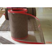 Best High Temperature Resistant Open Fiberglass PTFE Mesh Edge Reinforced Non Sticky wholesale