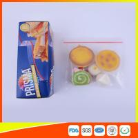Best PE Transparent Plastic Snack Bags With Zipper , Reusable Snack And Sandwich Bags wholesale