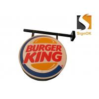 Best Burger  Illuminated Sign Box , Vacuum Forming Light Box Round Shape wholesale