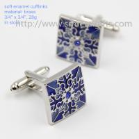 Best Exquisite soft enamel mens fashion cufflinks in stock, China factory cufflinks for sale, wholesale