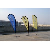 Cheap Knitted Fabric Custom Teardrop Flag Banner Full Color Digital Printing for sale