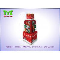 Best Christmas tree shape colorful printing custom cardboard display stands wholesale