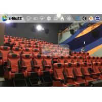 Best 1 Seat 2 Seats Simulation Rides Movie Theater System 4D With Arc / Flat Screen wholesale