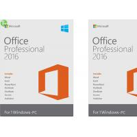 Best Microsoft Office 2016 Home And Business Software PKC / Retail Version On Stock wholesale