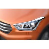Best Chrome Front Car Headlight Covers Molding Trim Cover Garnish For Hyundai IX25 wholesale
