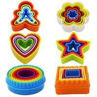 Best Plastic Multi-size set of 6 Multi-color Two-sided Round Cookie Biscuit Sandwich Fondant Cutter Set wholesale
