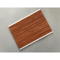 Best Flat Ceiling Material PVC Wood Panels 200 × 6mm Size Easy Install / Cleaning wholesale