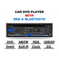 Best Bluetooth Car Stereo Dvd Player Single Din Fixed Panel Front Aux Input wholesale