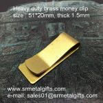 Best Vintage brush brass money clips, heavy duty 1.5mm thick brass money clip wallet wholesale