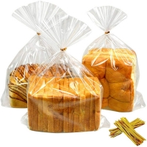 Best Twist Ties 1mil Bread Loaf Bags LDPE Clear Poly Bakery Bags wholesale