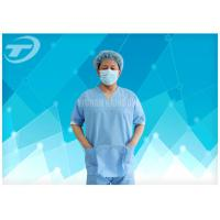 Best SMS Nonwoven Surgical  Medical Scrub Suit  / Disposable patient Gowns , CE And ISO wholesale