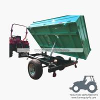 Best 4TR3WT - 3-Way Dump Trailer Agriculture trailer with handbrake Loading capacity 4Ton wholesale