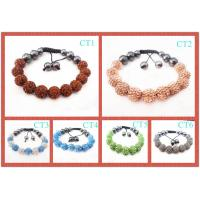 Best Women's Pink / Orange / Red / Blue / Green Shamballa Beaded Bracelets Jewellery wholesale