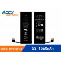 Best ACCX brand new high quality li-polymer internal mobile phone battery for IPhone 5S with high capacity of 1560mAh 3.8V wholesale