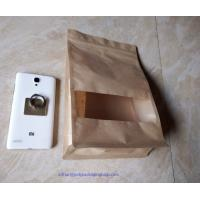 Quality Luxury Stand Up Food Packaging Poly Bags With Window To Display Your Commodities wholesale