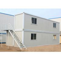 China Two Layers Prefabricated Container House , 40ft Container Home With Insulation Wall Panel on sale