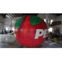 Cheap B1 Fireproof PVC Apple Fruit Shaped Balloons With Full Digital Printing 3m for sale