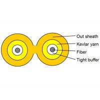 Best RoHS Complied 2 Fiber Optic Cable Tight Buffer Indoor Duplex Fiber Cable Zipcord wholesale
