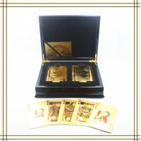 Best OEM Luxury Two Deck 3D art Gold Playing Cards with wooden box wholesale