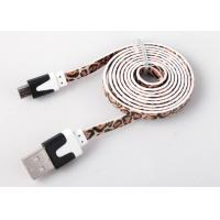 Best Flat Printed Micro USB Charging Cable High Speed For Mobile Charge And Sync wholesale
