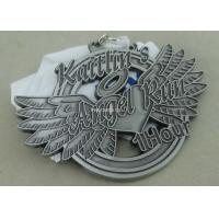 Best Soft Enamel Die Casting Medals For Running , Brass Awards Medal With Sublimation Ribbon wholesale