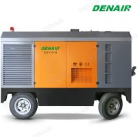 Best 185 cfm  Diesel Driven Rotary Twin Screw Air Compressor with Jack Hammer wholesale
