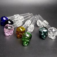 """Buy cheap Recyclable Skull Glass oil burner pipe Bubbler Bowl 5.5""""Inch Lenght Lightweight from wholesalers"""