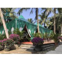 Best Green PVC Fabric Cover High Peak Tents with Anodized Aluminum Frame wholesale