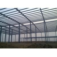Double Span Steel Industrial Building Construction With H Type Columns And Beams