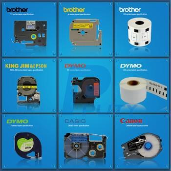 Brother label tape cassette Black on white 9mm * 8M Tze 221 Tze-221