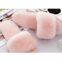 Best Open Toe Soft Sole Sheep Wool Slippers Durable With Fur Lining / 34-43 Euro Sizes wholesale