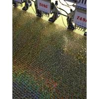 Best Gold diamond Mermaid Sequin Textile Cloth Material Flip Two-tone Reversible Sequin Embroidery Fabric wholesale