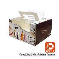 China Glossy Varnishing 8 Inch Cake Packaging Boxes , Open Window Personalised Cake Boxes on sale
