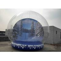 Best Fun Playing Snow Globe Yard Inflatable , Human Snow Globe Taking Photos Inside wholesale