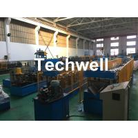 Best Steel Galvanized Ridge Cap Roll Forming Machine With Hydraulic Cutting For Making Roof Panels wholesale