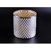 Best Create Diamond Shining Votive Glass Candle Holder With Woven Pattern wholesale