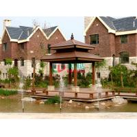 Best Anti - UV Double Layers Custom Made Gazebo No Cracking Plastic Wood Fading Resistance wholesale
