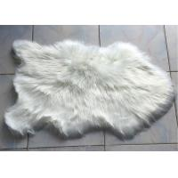 Best Long Wool Artificial Sheepskin Rug , Soft  Faux Sheepskin Throw 60* 90 Cm wholesale