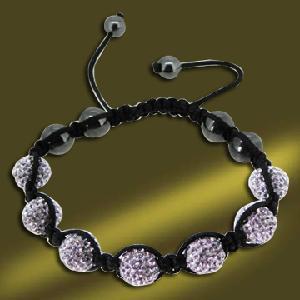 Best Shamballa Crystal Ball Bracelet (BSL3071B-18CM) wholesale