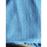 Best Microfiber Factory Blue Weft Big Grid Car Cleaning Cloth 1.5m Width 320gsm Density wholesale