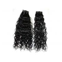 Buy cheap 100% Water Wave Non Remy Brazilian Human Hair Extensions Black 18 Inch from wholesalers