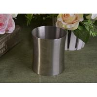 Best 23 Oz Silver round metal candle holder bulk with Lid , customized shapes wholesale