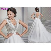 Best Shaped Princess Style Wedding Dresses / Beads Decoration Princess Ball Gowns wholesale