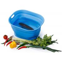 Best Unbreakable Food Grade Silicone Collapsible Bucket / Food Storage Silicone Picnic Basket wholesale