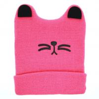 Best Boys Girls Cat Ear Lovely Baby Hats , Woolen Yarn Knit Keep Warm Hats Soft Material wholesale
