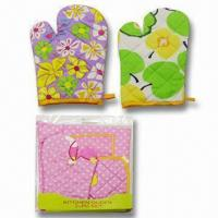 Best Oven Gloves, Made of 100% Cotton, Various Designs are Available wholesale