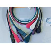 Cheap LL Style ECG Monitor Cable , 5 Leads Snap AHA Ecg Cables And Leadwires for sale