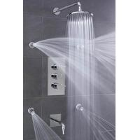 Best Concealed 3 Way Thermostatic Shower Valve With High / Low Water Pressure Shower Heads wholesale