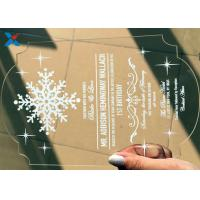 Best Recyclable Acrylic Gifts Luxury Laser Cut Clear Color DIY Acrylic Wedding Invitations wholesale