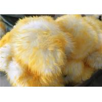 Cheap Reusable Double sided Car Washing Mitt Glove Yellow Color With 100% Pure Wool for sale